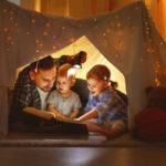 Happy family indoors